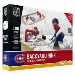 Mini patinoire avec but, 1 gardien, et 1 jpurur des Canadiens de Montréal