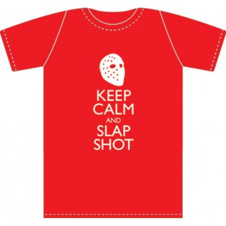 T-shirt Keep Calm and Slap Shot